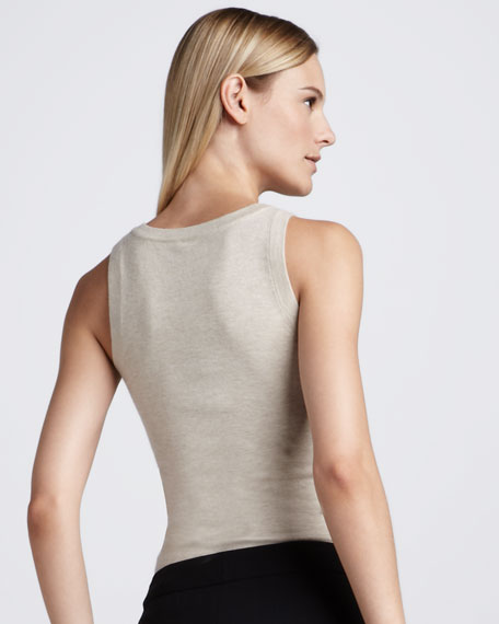 Sleeveless V-Neck Sweater
