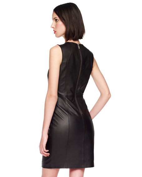 Leather Zip Dress