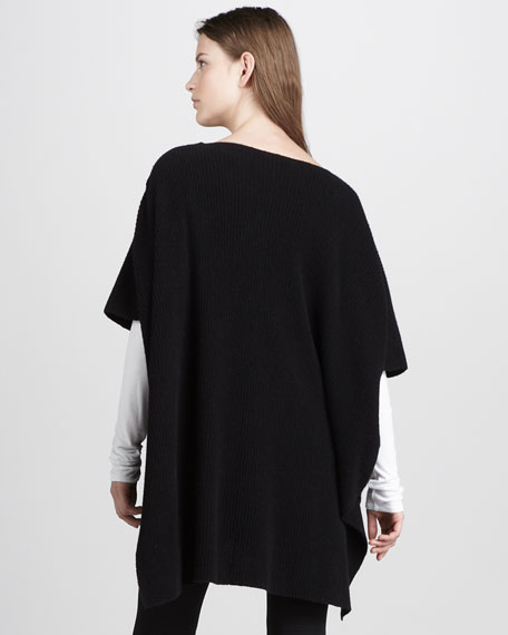 Corded Ribbed Poncho