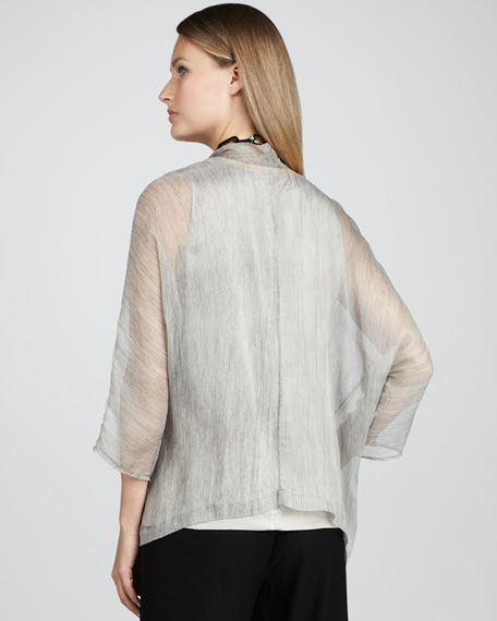 Sheer Crinkled Jacket