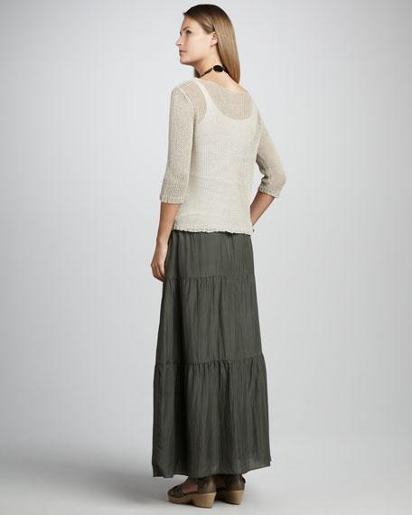 Habutai Silk Maxi Skirt, Petite