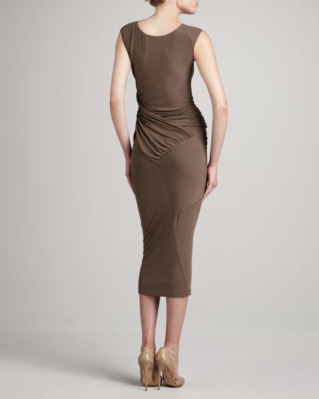 Ruched-Waist Jersey Dress