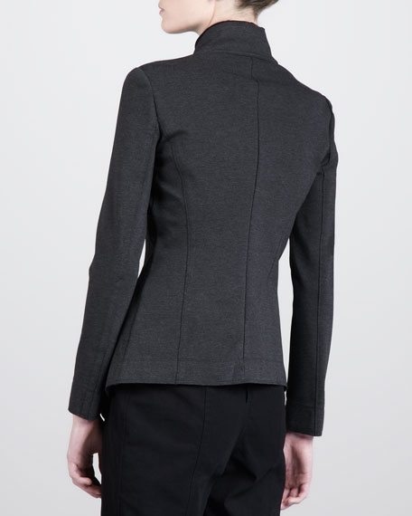 Molded Cardigan Jacket, Charcoal