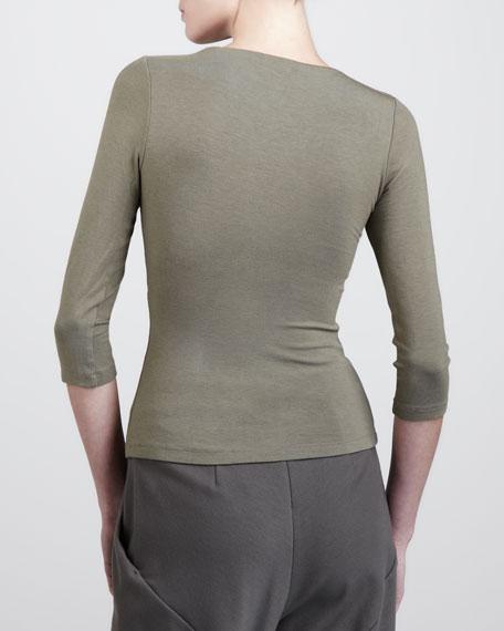 Three-Quarter-Sleeve Top, Silvershadow