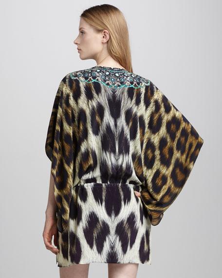 Embellished Drawstring Dress, Panthera
