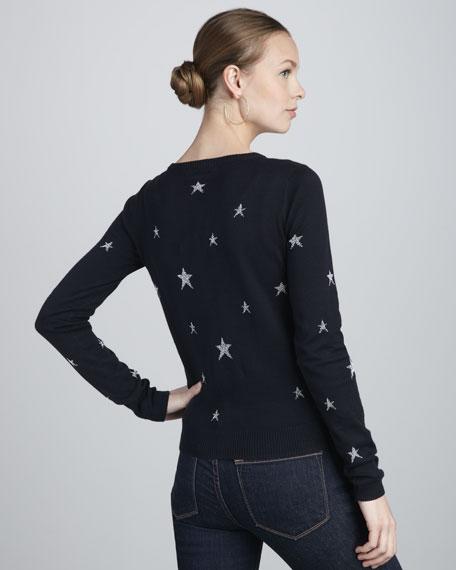 Shimmery-Star Cardigan