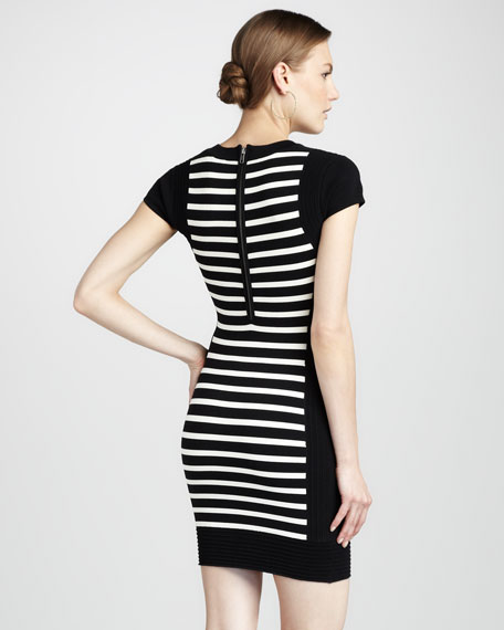 Dani Striped Crepe Dress