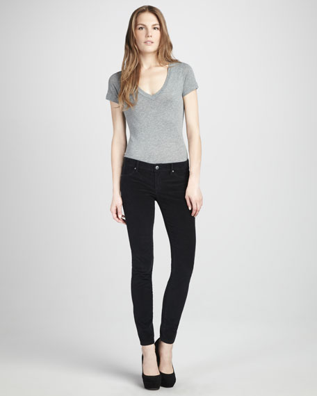 Corduroy Leggings, Black