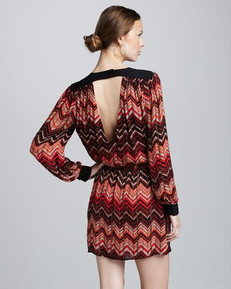 Beaded Zigzag Dress