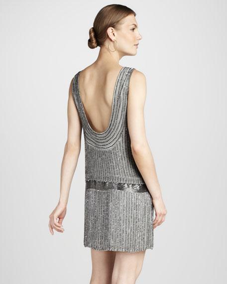 Sequined Drop-Waist Dress