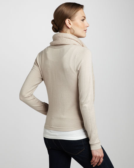 Wrap-Scarf Sweater