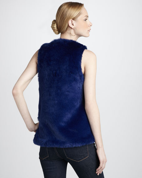 Faux-Fur & Leather Vest