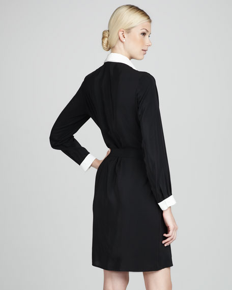 Dover Contrast Silk Dress