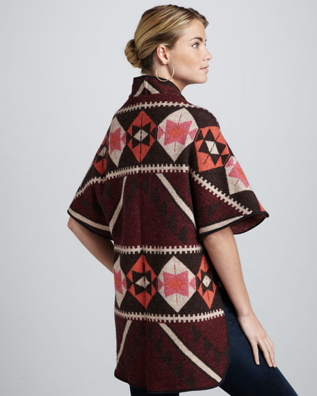 Belted Knit Poncho