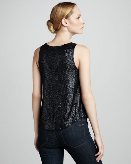 French Connection Alexis Sequined Tank