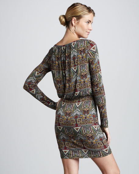 Tribal-Print Dress