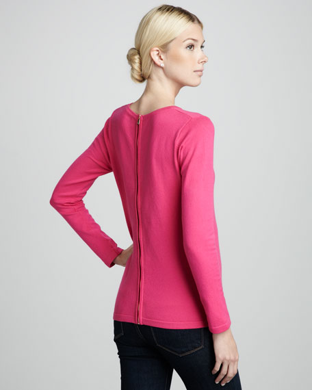 Back-Zip Sweater