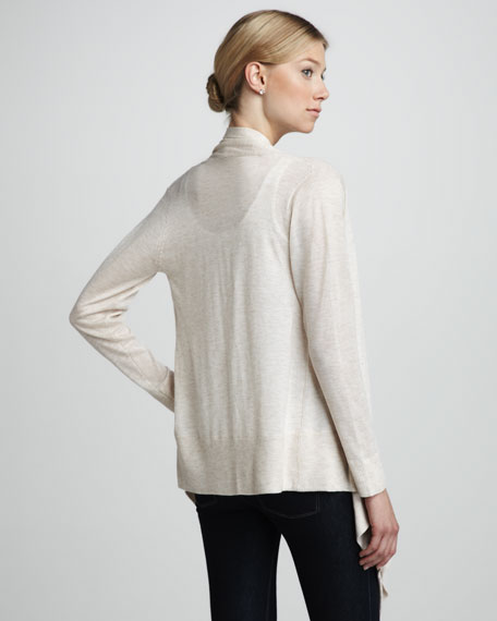 Draped Slub Cardigan