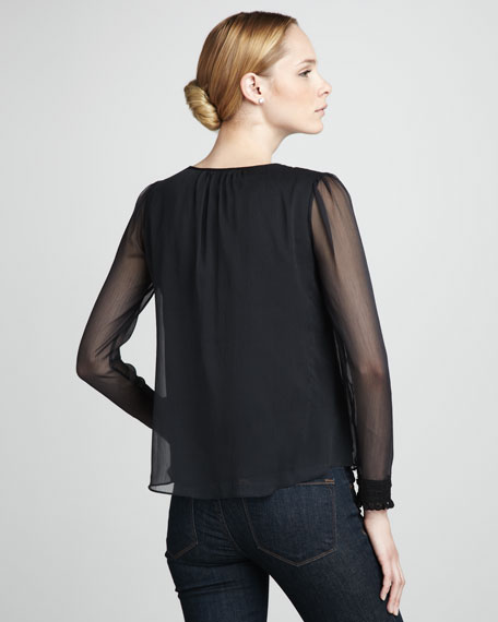 Sheer-Detail Top