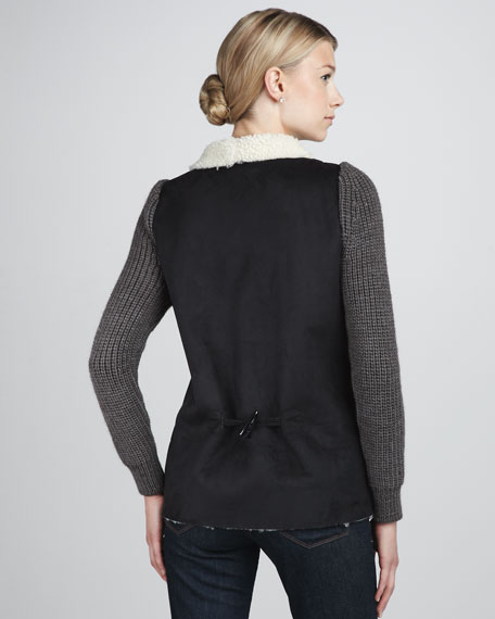Faux-Shearling Vest
