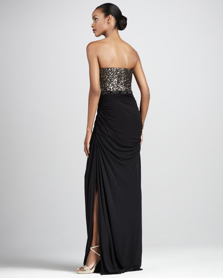 Sequined Jersey Gown