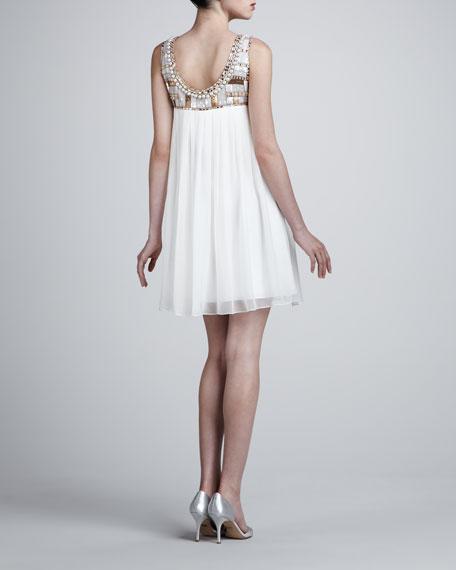 Beaded-Top Babydoll Dress