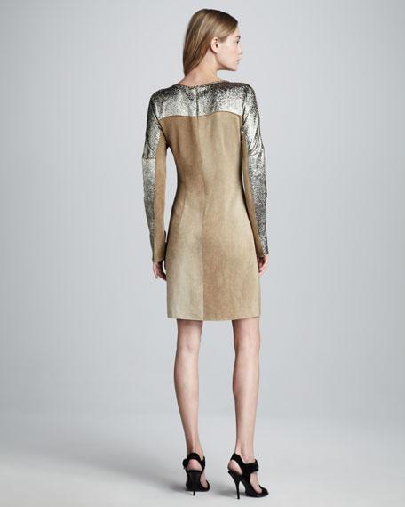 Catherine Sueded-Jersey Metallic Dress