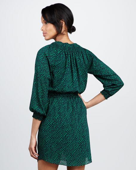 Taryn Printed Tie-Waist Dress