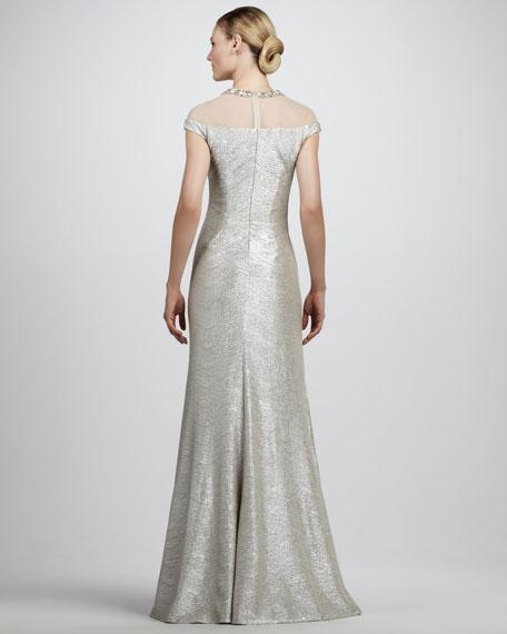 Metallic Illusion Gown