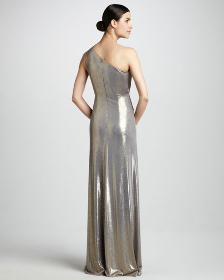 Folded Metallic Gown