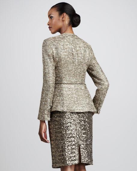 Ruffled Metallic Suit