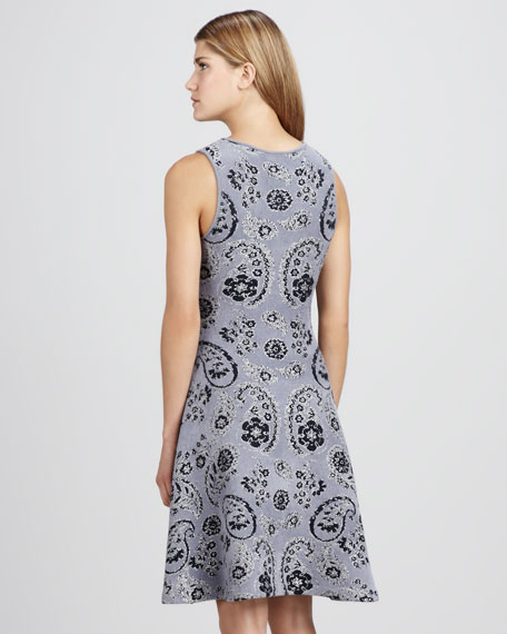 Paisley-Print Knit Dress