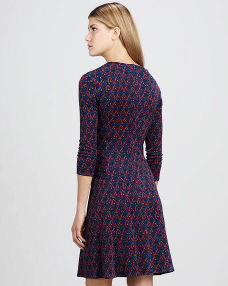 Printed Knot-Front Dress