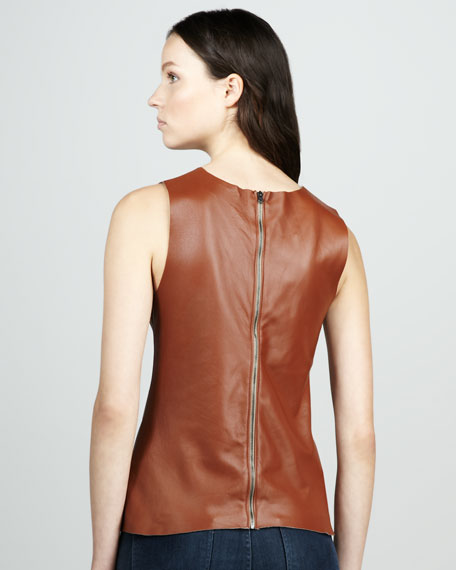 Vena Leather Shell, Cognac