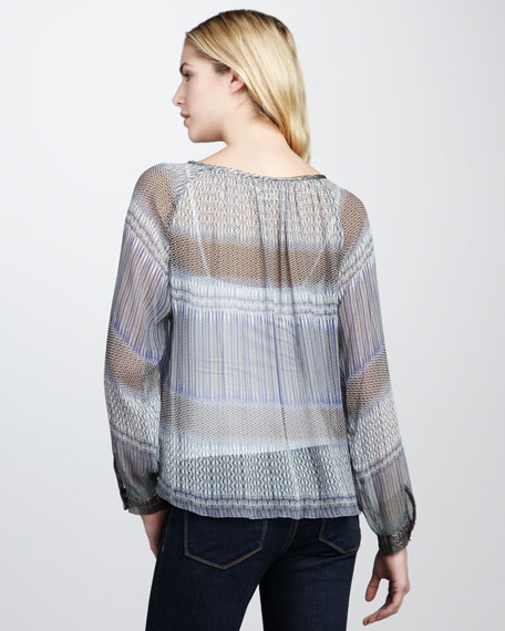 Trisha Printed Silk Top
