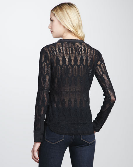 Tola Stretch-Crochet Shirt