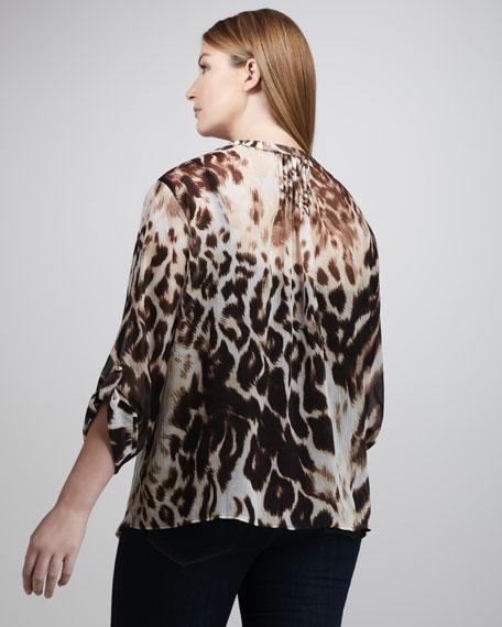 Animal-Print Blouse, Women's