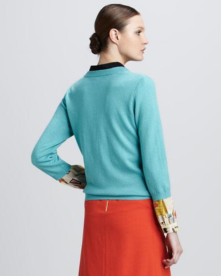 jessie cocktail-print blouse