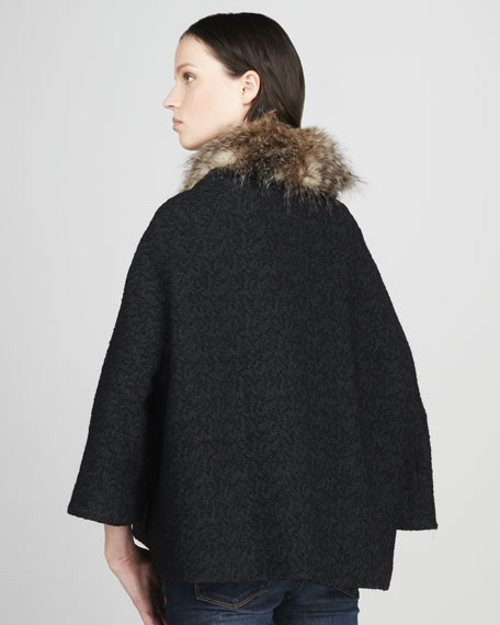Almost Famous Faux-Fur-Trim Coat