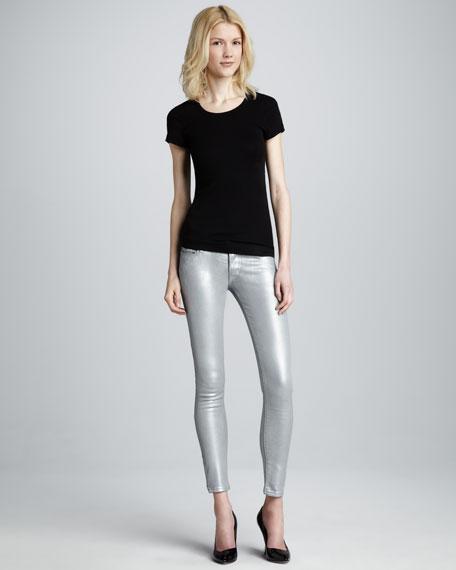Hudson Krista Silver Super Skinny Jeans