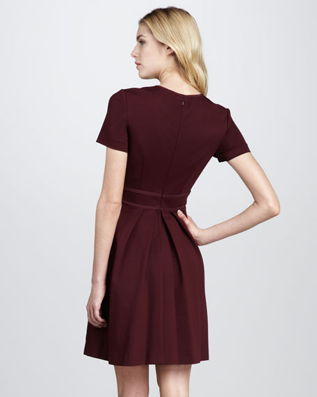 Short-Sleeve Ponte Dress