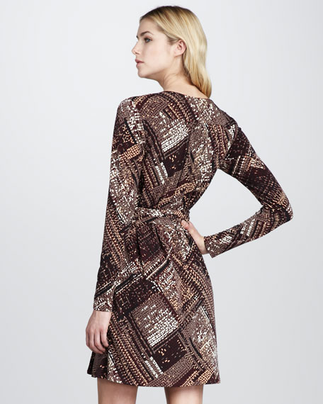 Printed Jersey Wrap Dress
