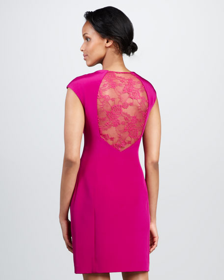 Lace-Back Cocktail Dress