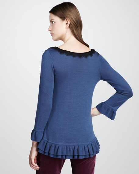 Gloria Ruffle-Hem Sweater
