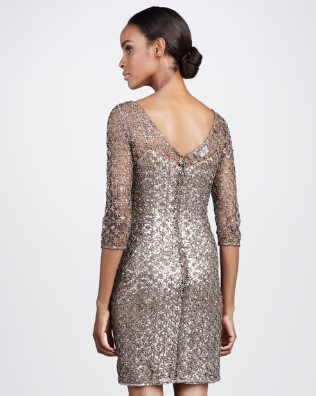 Lace-Overlay Cocktail Dress, Women's