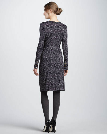Tammy Printed Long-Sleeve Dress