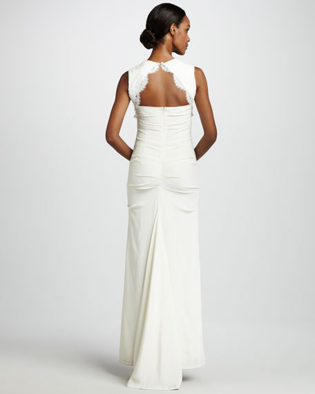 Square-Neck Gown