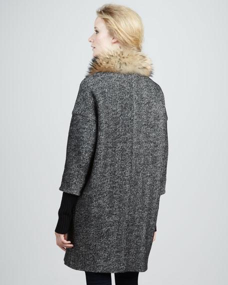 Valentina Fur-Collar Coat
