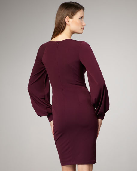 Asymmetric Long-Sleeve Dress, Women's