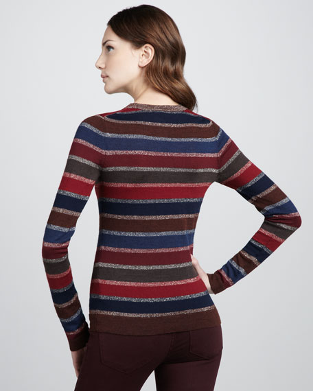 Pyo Shimmer-Stripe Sweater